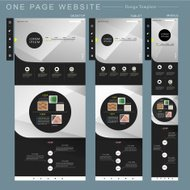 modern one page website template design