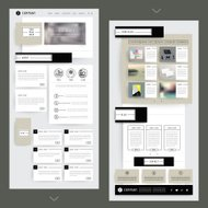 collage one page website template design