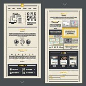 retro one page website template design