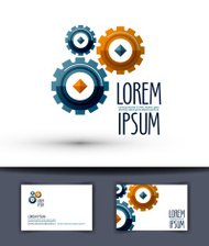 Business vector logo design template. Gear or work icon.