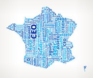 France On royalty free vector Business Word Cloud Graphic Patter