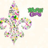 Mardi Gras Design Element Shape in Fleur De Lis