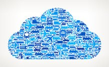 Blue Cloud On Transportation royalty free vector art Pattern