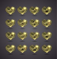 funny metal heart-shaped emoticons for your site