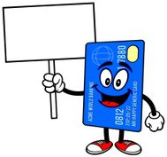 Credit Card with Sign
