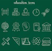Doodle education icons
