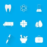 Vector collection of medical icons of modern flat.