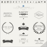 Retro Vintage Insignias or Logotypes Set