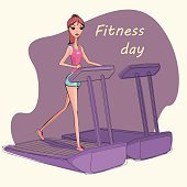 Illustration of fitness girl