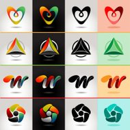 Logo and Abstract web Icon vector identity
