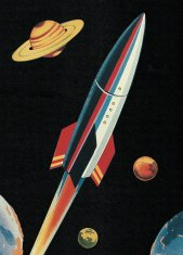 Rocketship in Outer Space