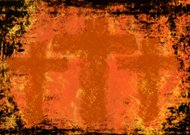 Three crosses on a Grunge background