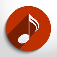 Vector music note web icon.