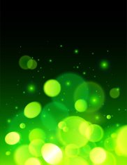 Green abstract bokeh effect vector background