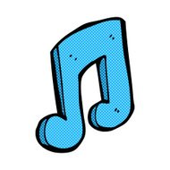 comic cartoon musical note