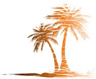 Grungy palm trees - VECTOR