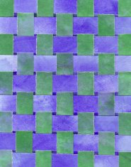 Woven watercolor paper in blue and green