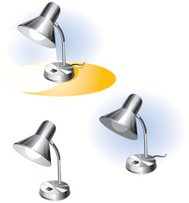 Silver Desk Lamp - Vector