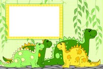 Kid scrapbook with dragons or dinosaurs