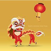 Happy Chinese New Year- Kids playing lion dance