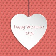 Simple Valentine Day greeting card