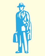 Businessman with Briefcase and Coat over Arm