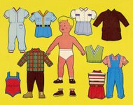 Paper Doll Boy With Outfits