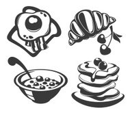 vector collection of traditional breakfast food