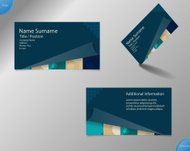 New dark blue business card layout