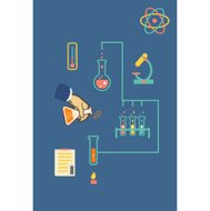 Chemistry infographic  illustration, infographics template for m