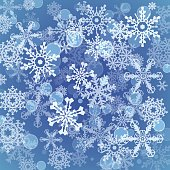 Snowflakes icon set collection.