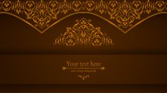 luxurious Victorian retro background, pattern with curls for you