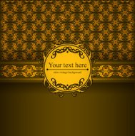 Design background with ornate floral pattern.