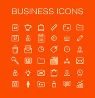 Vector business universal Outline Icons For Web and Mobile.
