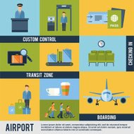 Aéroport Icons Set