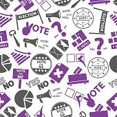 election simple icons seamless color pattern eps10