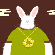 Recycle your bling bunny...