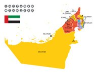 Detailed Vector Map of United Arab Emirates