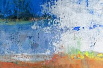 Abstract painted orange and blue art backgrounds.