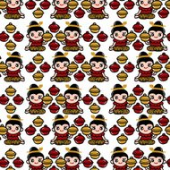 Thai food concept pattern design