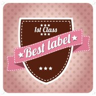 Vintage retro hipster label, typography, geometric design elemen