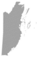 Dotted vector map of Belize