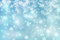Lovely winter snowfall illustration background