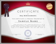 Vintage certificate template with vinous border and golden eleme