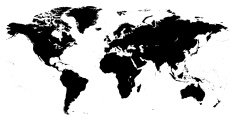 Hight detailed world map