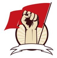 Fist with flag