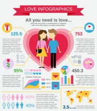 Love infographic set