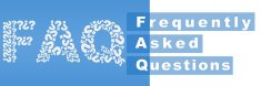 FAQ Filled With Question Mark Blue Stripe