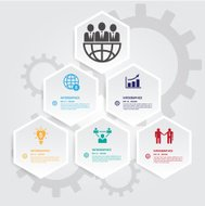 Hexagons group modern business template. Can use for banner prom