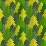 Flat pine forest seamless vector pattern